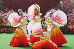 Grupo de la danza del chino Foto de archivo libre de regalías