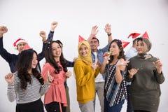 Grupo de la danza y del partido de gente asiática Fotos de archivo