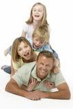 Grupo de la familia feliz junto imagen de archivo libre de regalías