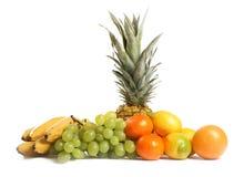 Grupo de la fruta en el fondo blanco Foto de archivo libre de regalías