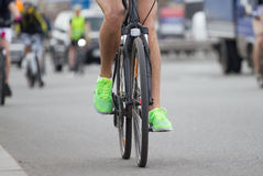 Grupo de la gente de ciclistas Fotografía de archivo libre de regalías