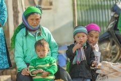 Grupo de la gente de la minoría étnica Foto de archivo