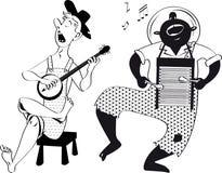 Grupo de la música de Hillbilly ilustración del vector