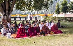 Grupo de la meditación Imágenes de archivo libres de regalías