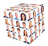 Grupo de la persona del negocio. Collage del cubo. Foto de archivo