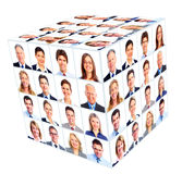 Grupo de la persona del negocio. Collage del cubo. Imágenes de archivo libres de regalías