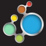 Grupo de la relación del círculo moderno Imagen de archivo libre de regalías