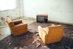 Grupo de la TV Imagen de archivo libre de regalías