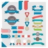Grupo de labels.eps10 ilustração stock
