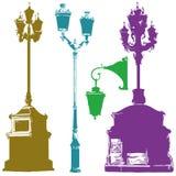 Grupo de lanternas olorful da rua do  diferente de Ñ Imagem de Stock Royalty Free