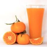 Grupo de laranja e de suco de laranja imagem de stock royalty free