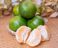 Grupo de laranjas frescas Fotos de Stock