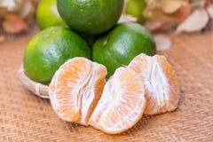 Grupo de laranjas frescas Foto de Stock Royalty Free