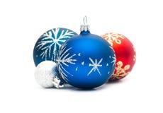 Grupo de las bolas de la Navidad Fotos de archivo libres de regalías