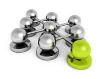 Grupo de las esferas del concepto del trabajo en equipo de la dirección ilustración del vector