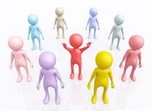 Grupo de las figuras 3D ilustración del vector