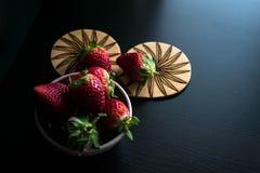 Grupo de las frutas de la fresa foto de archivo libre de regalías