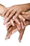 Grupo de las manos Foto de archivo libre de regalías