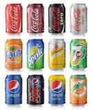 Grupo de latas de soda Imagem de Stock Royalty Free