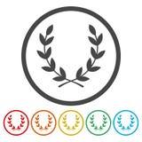 Grupo de Laurel Icons ilustração do vetor