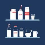 Grupo de leite Imagens de Stock