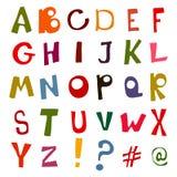 Grupo de letras da garatuja Alfabeto fotos de stock royalty free