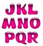 Grupo de letras principais cor-de-rosa do alfabeto do gel e do caramelo isoladas sobre ilustração royalty free