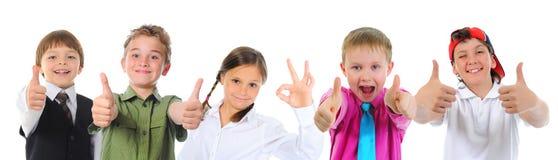 Grupo de levantamento das crianças fotos de stock royalty free