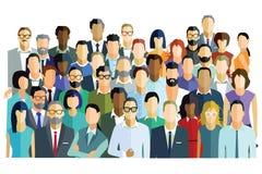 Grupo de levantamento dos homens e das mulheres ilustração stock