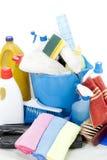 Grupo de limpeza Imagem de Stock