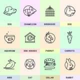 Grupo de linha ícones no estilo liso Imagens de Stock Royalty Free