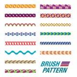 Grupo de linha colorida teste padrão Fotografia de Stock Royalty Free