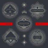 Grupo de linha emblemas e etiquetas heráldicos Foto de Stock