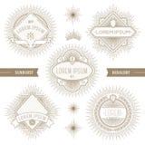 Grupo de linha emblemas heráldicos Fotos de Stock Royalty Free