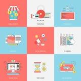 Grupo de linha lisa conceitos dos ícones Imagem de Stock