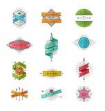 Grupo de linha sinais e emblemas do moderno Imagem de Stock