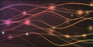 Grupo de linhas abstratas de fluxo coloridas Fotos de Stock Royalty Free