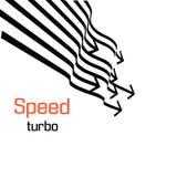 Grupo de linhas isoladas da velocidade O efeito do movimento a seu projeto Imagem de Stock Royalty Free