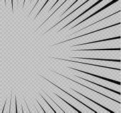 Grupo de linhas isoladas da velocidade O efeito do movimento a seu projeto Linhas pretas em um fundo transparente O voo Fotos de Stock