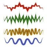 Grupo de linhas onduladas Foto de Stock Royalty Free