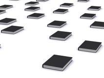 Grupo de livros pretos ilustração do vetor