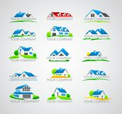 Grupo de logotipo da casa Fotografia de Stock Royalty Free