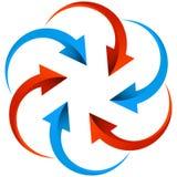 Grupo de logotipo das setas no branco ilustração stock