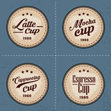 Grupo de logotipo e de elementos do café no estilo do vintage Imagem de Stock
