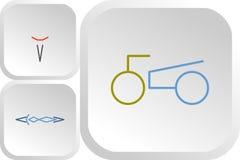 Grupo de logotipos clássicos da cor do esporte ilustração stock