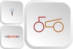 Grupo de logotipos da cor das motocicletas do esporte ilustração do vetor