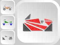 Grupo de logotipos da cor das motocicletas do estilo do triângulo ilustração do vetor
