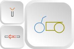 Grupo de logotipos da cor das motocicletas do interruptor inversor ilustração stock