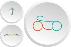 Grupo de logotipos da cor do esporte do esporte ilustração stock