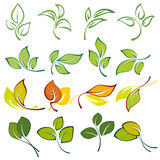 Grupo de logotipos das folhas multi-coloridas Imagens de Stock Royalty Free